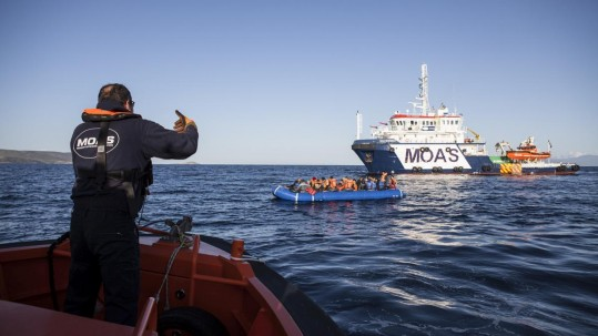 MOAS rescue in Aegean Sea