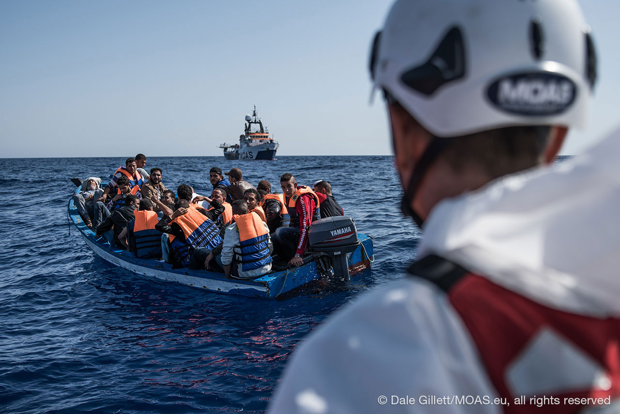 migrants-in-unstabe-boat-in-Central-Mediterranean-waiting-to-be-rescued-copyright-Dale-Gillett_MOAS-2016-DSC05723
