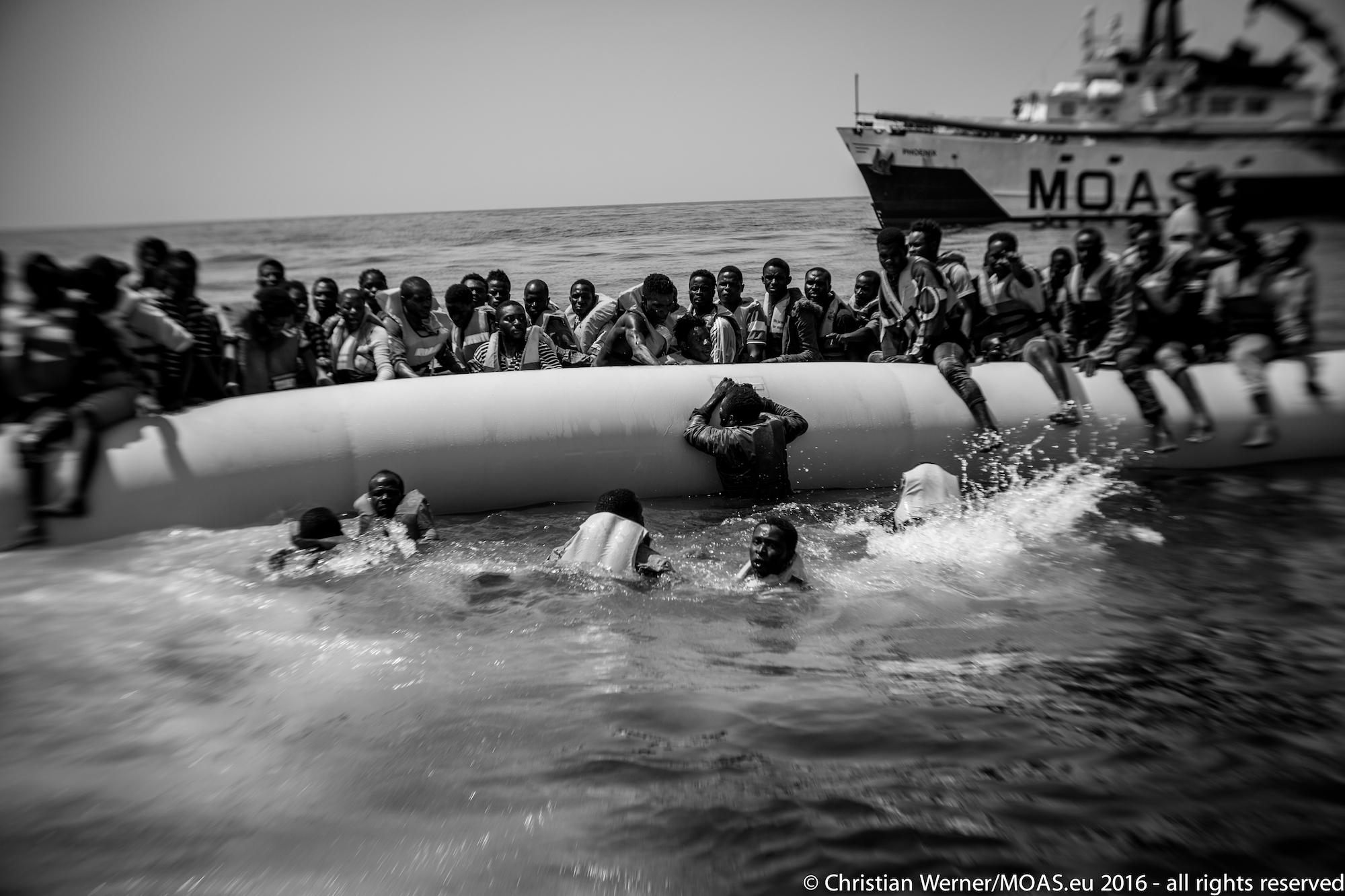 MOAS Rescue Operations near the libyan Coast.