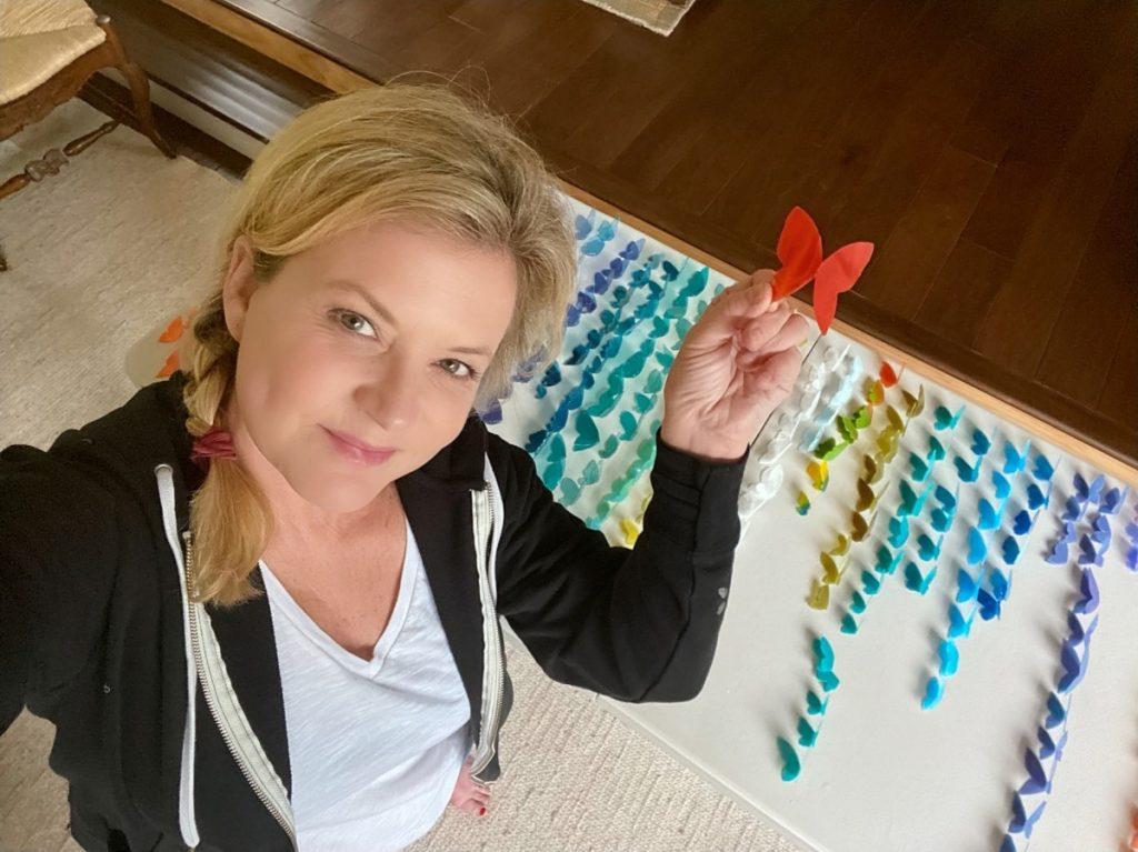 Resin butterflies production line