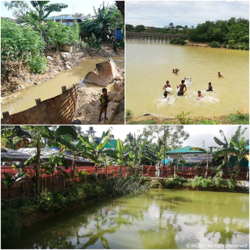 Water sources in the camps